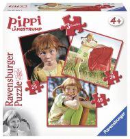 Puslespill 3i1 Pippi Ravensburger