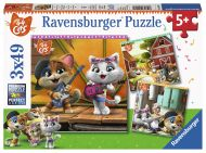 Puslespill 3X49 44 Cats Velkommen Ravensburger