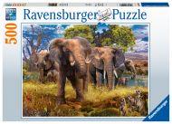 Puslespill 500 Elefantfamilie Ravensburger