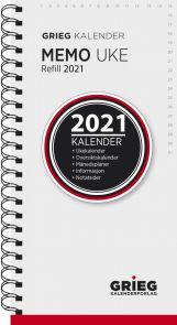 Kalender 2021 Memo Uke Refill