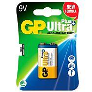 Batteri GP Ultra Plus Alk. 9V Batteri LR6, 1-pk