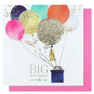 Systemkort Big Bday Wish Balloon Flitter