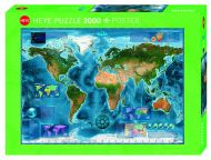 Puslespill 2000 Satellite Map Heye