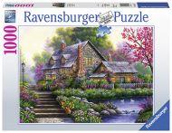 Puslespill 1000 Romantisk Hytte Ravensburger