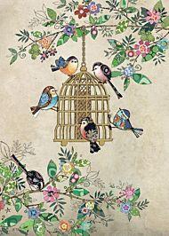 Kort 167x118 Paper og foil Bird Feeder