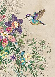 Kort 167x118 Paper og foil Tropical Hummingbird