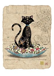 Kort 167x118 Paper og foil Cat Cushion