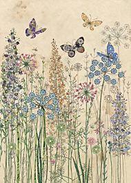 Kort 167x118 Paper og foil Butterfly Grasses