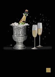 Doble kort 167x118 Jewels  Champagne