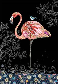 Doble kort 167x118 Jewels  Pink Flamingo
