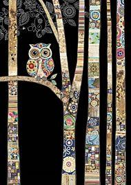 Doble kort 167x118 Jewels  Owl Birch