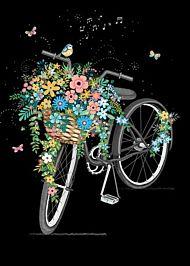 Doble kort 167x118 Jewels Flower Bike