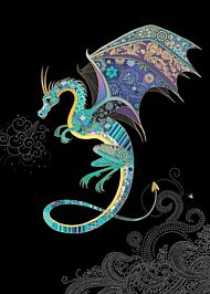 Doble kort 167x118 Jewels Blue Dragon