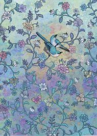 Doble kort 167x118 Decoratives Blue Birds