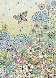 Doble kort 167x118 Decoratives Meadow Butterfly