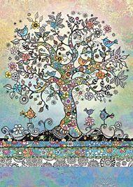 Doble kort 167x118 Decoratives Tree of Birds