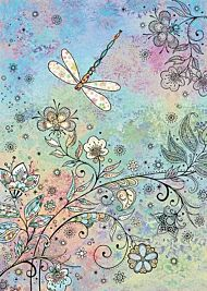 Doble kort 167x118 Decoratives Dragonfly