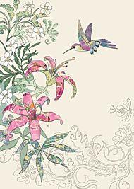 Doble kort 167x118, Collage, Lily Hummingbird