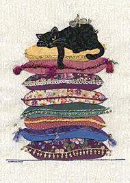 Doble kort 167x118 Amy`s Cards Cat Cushions