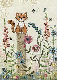 Doble kort 167x118 Amy`s Cards Kitten Post