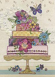 Doble kort 167x118 Amy`s Cards Flower Cake