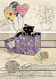 Doble kort 167x118 Black Ink Gift Kitty