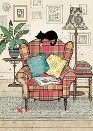 Doble kort 167x118 Black Ink Chair Kitty