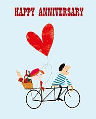 Dobbelt kort Ink Press, Bike & Heart
