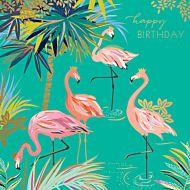 Kort Sara Miller Flamingo Palms