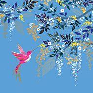 Kort Sara Miller Hummingbird Foilage