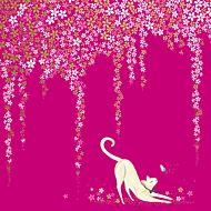 Kort Sara Miller Cat Blossom