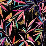 Kort Sara Miller Birds Butterflies Black