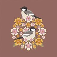 Kort I Like Birds Coal Tit Bloom