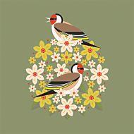 Kort I Like Birds Goldfinch Bloom