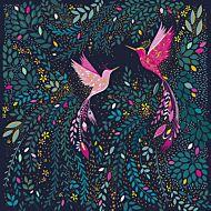 Kort Sara Miller Hummingbirds Fl Sprig