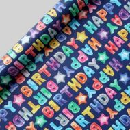 GAVEPAPIR 3M HAPPY BIRTHDAY BALLOONS WRAP