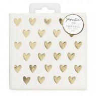 Wedding Servietter Heart Foil Mini Napkin 20
