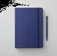 Notatbok Agenzio A5 Linjert Hardcover Blå 240s
