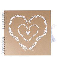 Scrapbook Kraft Heart XL 31x31cm