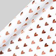 Gavepapir 3m Copper Heart Leaves