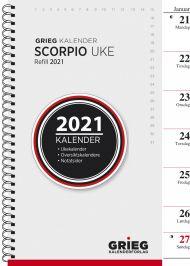 Kalender 2021 Scorpio A5 Uke Refill