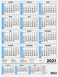 Veggkalender 2021 7.sans Årskalender A2