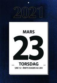 Veggkalender 2021 Kjempekalender A3 Dag Topplimt