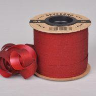 Gavebånd Rød/Glitter 10mm X 25m