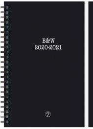 Kalender 7.sans Black/white A5 20/21