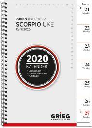 Ukekalender Grieg Scorpio A5 refill 2020