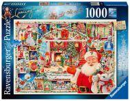 Puslespill 1000 Julen Kommer Ravensburger