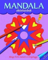 Mandala aktivitetsbok. Fargeleggingsbok med mandalamønstre. Fra 4 år