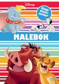 Malebok Disney Med Klistremerker