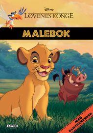 Malebok WD Løvenes Konge Med Klistremerker